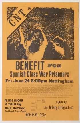 CNT. Benefit for Spanish Class War Prisoners [poster