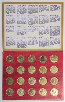 Shell volistoria in 20 medaglie la storia dei volopionieri [set of 20 metal tokens commemorating...