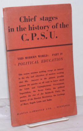 The Chief Stages in The History of the C.P.S.U