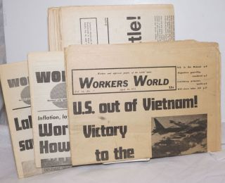 Workers World 1972-1977 11 issues. Vince Copeland Sam Marcy, eds