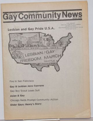 GCN: Gay Community News; the weekly for lesbians and gay males; vol. 9, #2, July 25, 1981;...