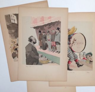 Four prints from L'Oeuvre De Zola]. Henri Lebourgeois
