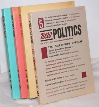 New politics; a journal of socialist thought. Vol. 2, No. 1-4 (New Series whole Nos. 5-8), Summer...