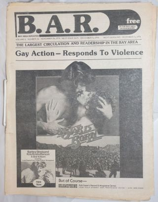 B.A.R. Bay Area Reporter: vol. 6, #24, November 24, 1976; Gay Action - Responds to Violence; A...