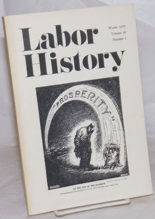 Labor history. vol 16, no. 1, Winter, 1975. Daniel Leab, ed