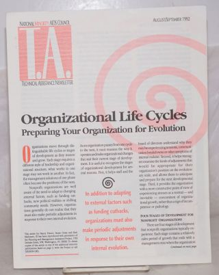 T.A.: technical assistance newsletter; August/September 1992: Organizational Life Cycles