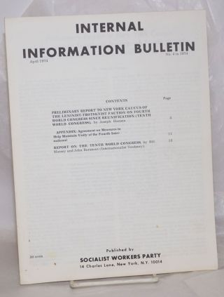 Internal Information Bulletin, Apr 1974, No. 4