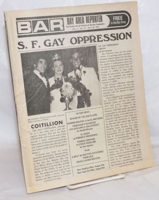 B.A.R. Bay Area Reporter: the catalyst for all factions of the Gay Community; vol. 2, #15, July...
