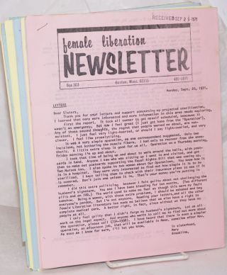Female liberation newsletter [12 issues, plus a supplement on abortion]
