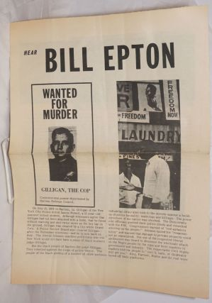 Hear Bill Epton. Bill Epton, Progressive Labor Movement, later Party