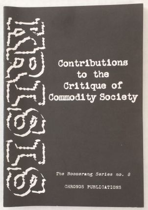 Contributions to the critique of commodity society. Krisis