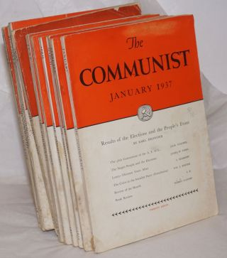 The Communist; a magazine of the theory and practice of Marxism-Leninism. Vol. 16, [11 issues],...