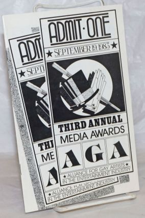 Third Annual AGA Media Awards [program] September 19, 1983