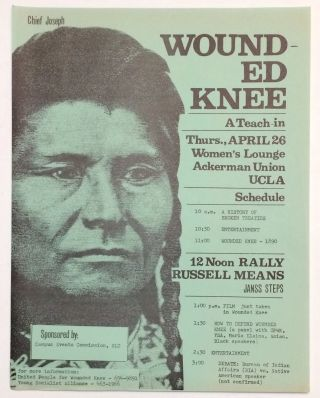 Wounded Knee: a teach-in [handbill