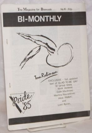 BiMonthly: the magazine for bisexuals; #10: Pride '85