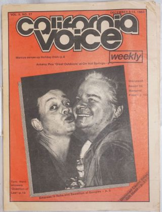 California Voice Weekly: the responsible gay press; vol. 5, #27, December 8-14, 1983: Stonewall...