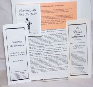 Packet of handbills and pamphlets: The Bible and the Homosexual, Composing the Testaments,...