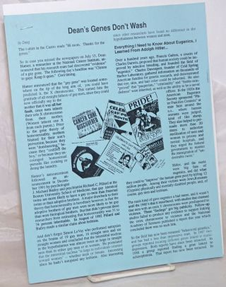 Dean's Genes Don't Wash [offprint/pamphlet]. Lesbian And GAy Insurrection Deeg