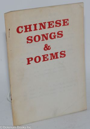 Chinese songs & poems