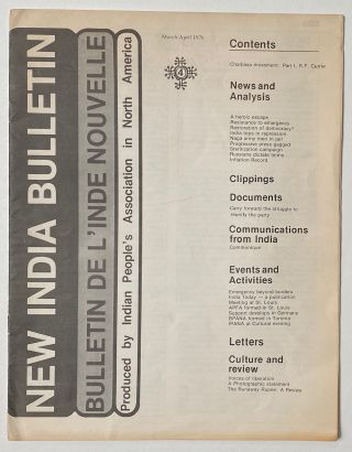 New India Bulletin. Vol. 1 no. 4 (March-April 1976