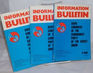 Information Bulletin, XXVII Congress of the Communist Party of the Soviet Union. Documents of the...