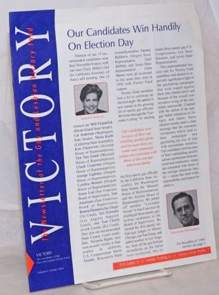 Victory: the newsletter of the Gay & Lesbian Victory Fund vol. 4, Winter 1994; Our candidates...