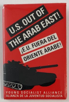 US out of the Arab East! / EU fuera del oriente Arabe! [pinback button
