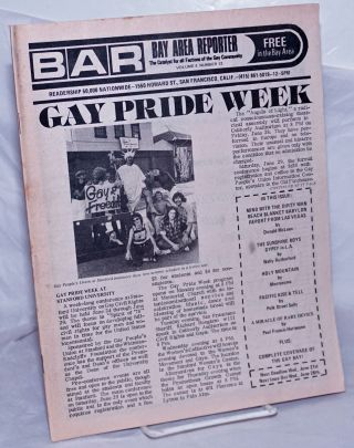 B.A.R. Bay Area Reporter: the catalyst for all factions of the gay community, vol. 4, #12; Gay...