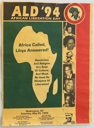 ALD '94. African Liberation Day. Africa called, Libya answered! Revolution and religion are acts...