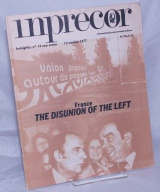 inprecor [1977, No. 14, 13 Oct 13] international press correspondence