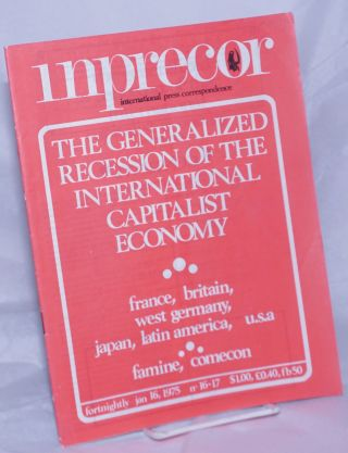 inprecor [1975, Nos. 16/17 - double issue- Jan 16] international press correspondence
