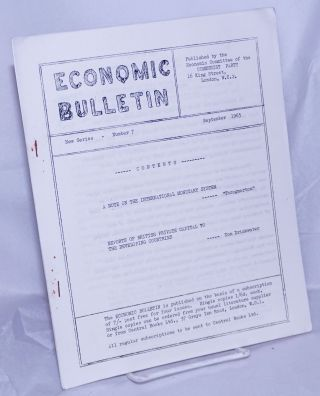 "Economic Bulletin; New Series - Number 7, September 1965. John Drinkwater, ""Throgmorton"" -..."