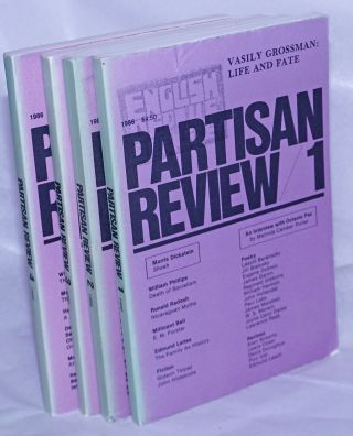 Partisan review, Vol. 53, Nos.1- 4, 1986 a literary monthly