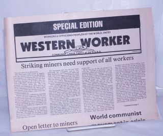 Western worker, special edition. Communist Labor Party of the USNA