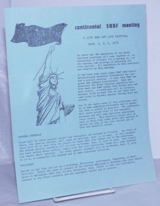 Continental SRAF Meeting: A live and let live festival. Sept. 4, 5, 6, 1976
