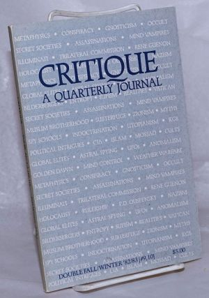 Critique, A Quarterly Journal. Volume 3, Number 1, 2 [#9/10] Fall/Winter, 1982/83, Double [Issue