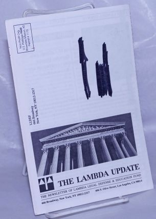 Lambda Update: newsletter of the Lambda Legal Defense and Education Fund [1992 sample issue]....