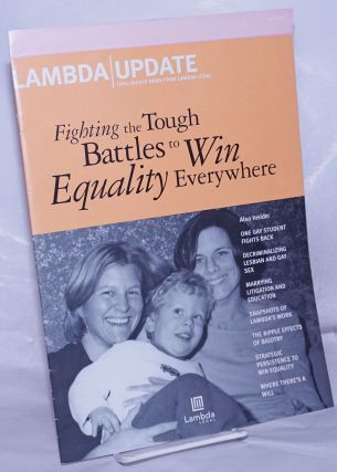 Lambda Update: Civil rights news from Lambda Legal; Fall 2002. Eric Ferrero, Michael Adams
