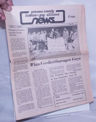 Sonoma County Lesbian & Gay Alliance News: vol. 2, #5 June 1979; White Verdict Outrages Gays....