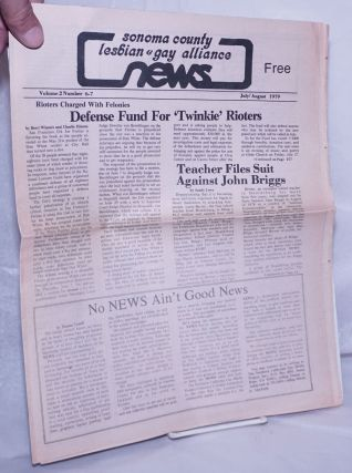 Sonoma County Lesbian & Gay Alliance News: vol. 2, #6-7 July/August 1979; Defense Fund for...