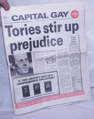 Capital gay: a weekly newspaper published by Gay Men #293, Friday May 22nd, 1987: Tories Stir Up...