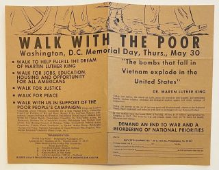 Walk with the poor. Washington, D.C. Memorial Day, Thurs., May 30. Walk to help fulfill the dream...