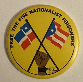 Free the five Nationalist Prisoners [pinback button