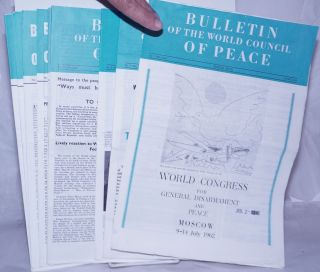 BULLETIN OF THE WORLD COUNCIL OF PEACE 1962-1963 10 issues
