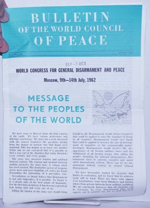 Bulletin of the World council of Peace 1962 Aug