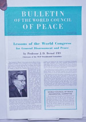 Bulletin of the World council of Peace 1962 Sep