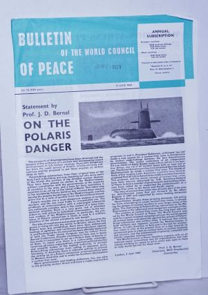 Bulletin of the World council of Peace 1963 Jun 15