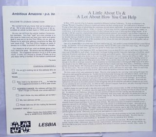 Lesbian Connection informational letter