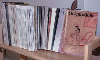 Orientations, 1970-2003, 116 issues, a discovery of arts and the pacific