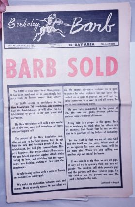 Berkeley Barb: vol. 9, #3 (#205) July 16 - 24, 1969: Barb Sold. Allan Coult, K. Lance Timothy...